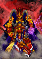 Magnus the Red color by slaine69