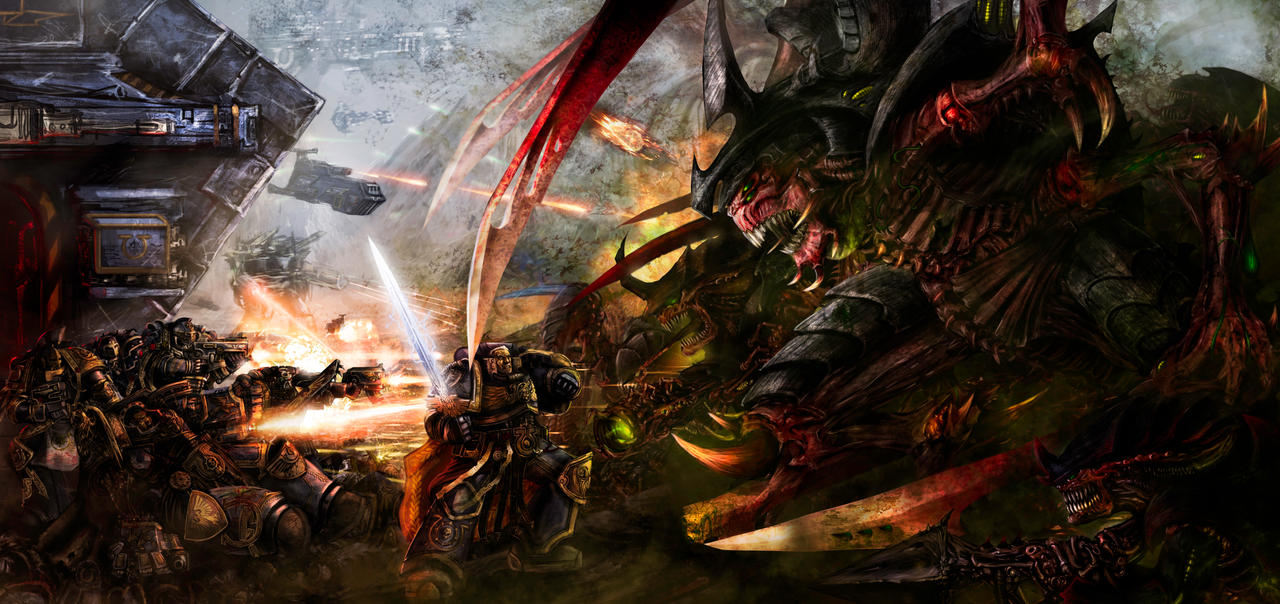 [W40K] Collection d'images : les Xenos - Page 2 Battle_for_macragge_by_slaine69-d34nchm