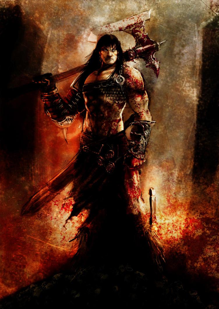 Conan with axe by slaine69