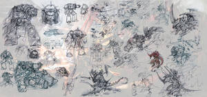 Battle of Macragge sketches by slaine69