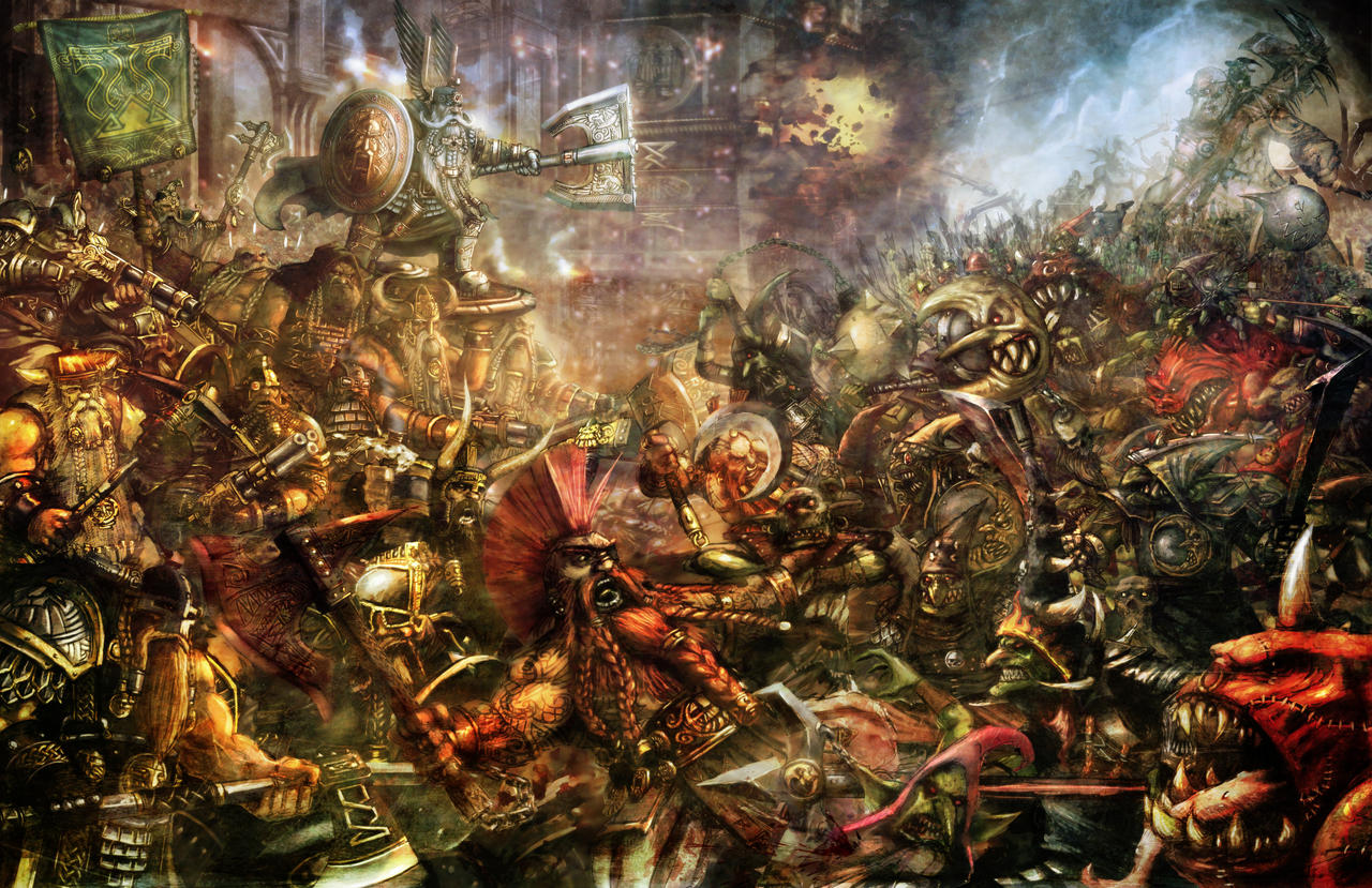Goblin/Dwarf Battle by slaine69