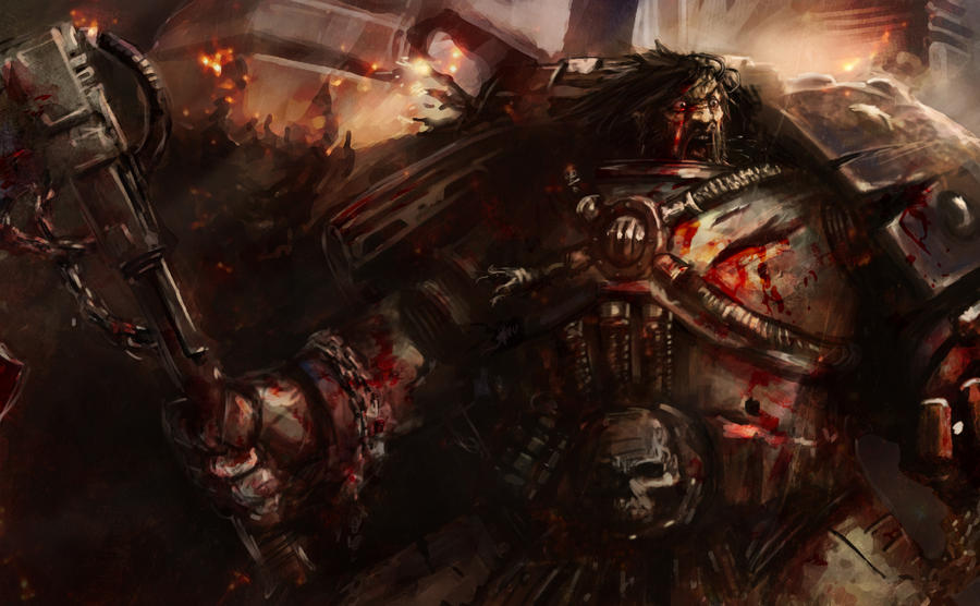[W30K] Legiones Astartes XII : World Eaters Kharn_at_armatura_by_slaine69-d73if4s