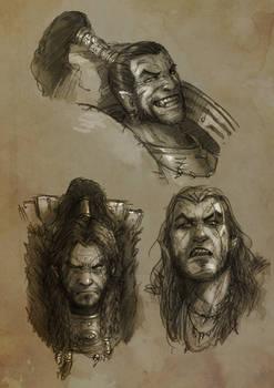 Ragnar Bust sketches