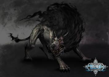 Gloom the shadow hound by slaine69