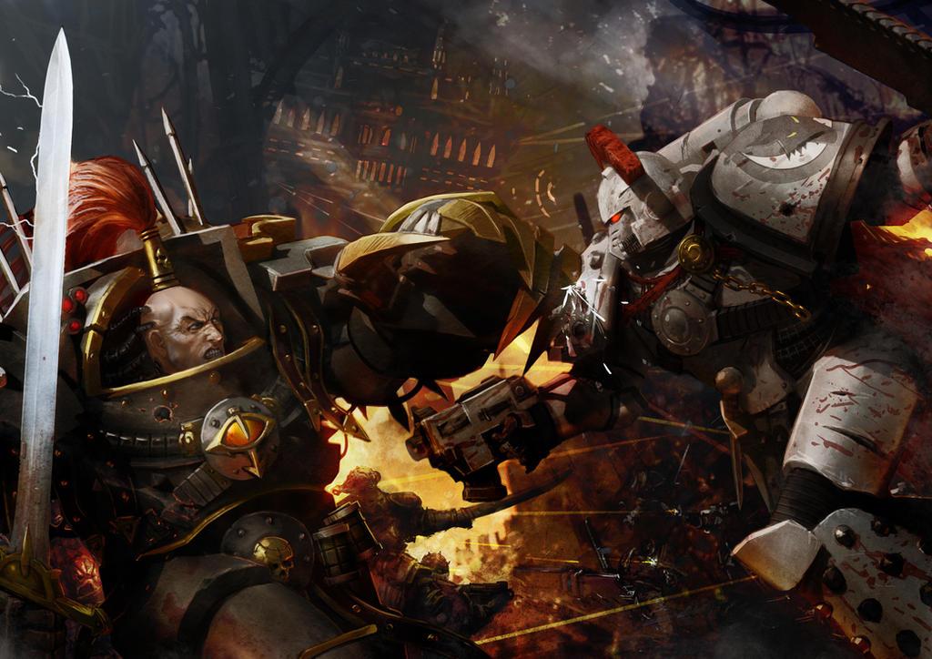 Loken vs Abbaddon by slaine69