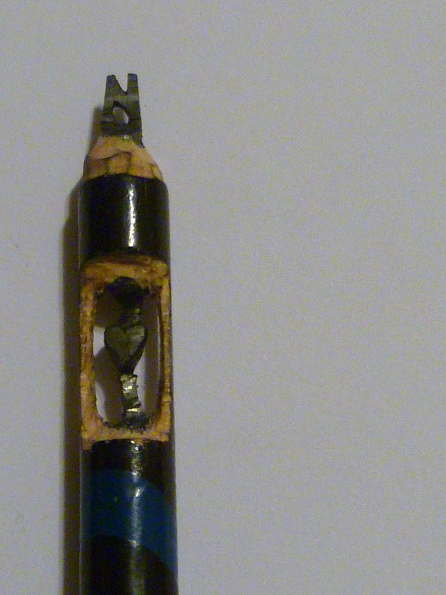 Pencil carving by tarefu reak on deviantart