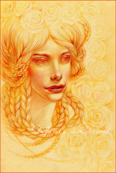 Golden roses by DalfaArt