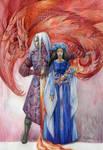 Rhaegar and Lyanna by DalfaArt