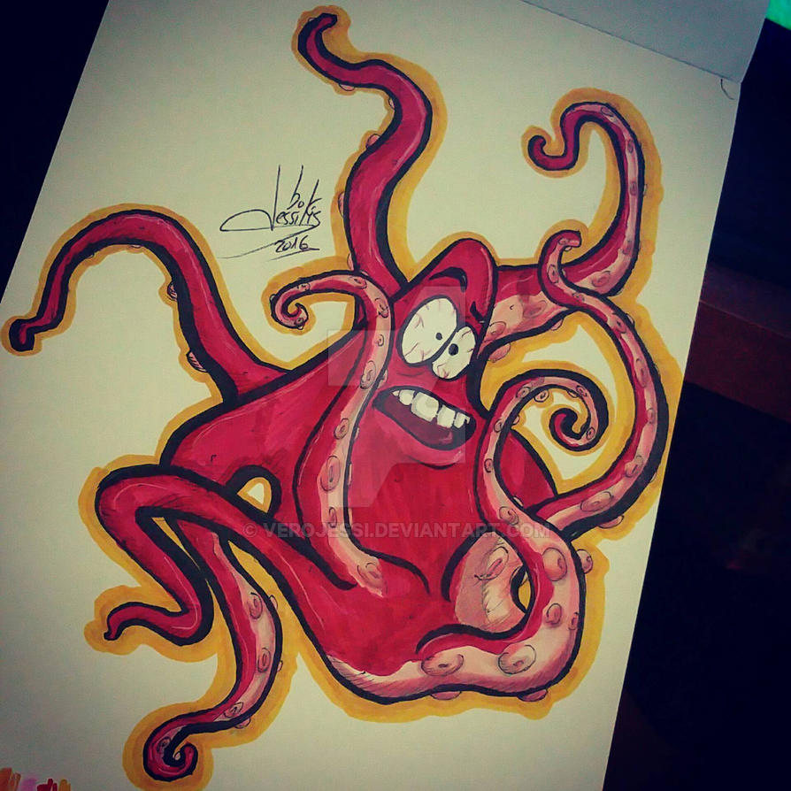 Octopus from a scribble by verojessi