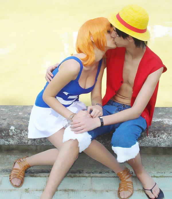 One Piece: RufyxNami by C4ppi3