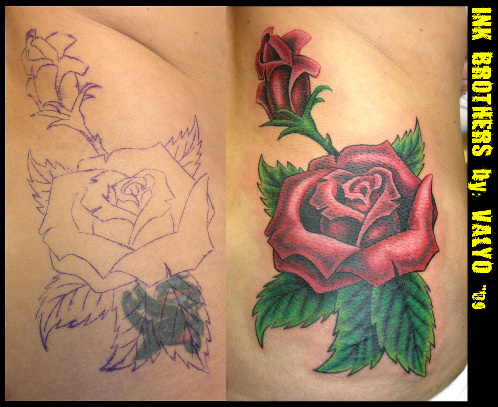 Rose Tattoo Cover Up: Tattoos Designs By Luis Turner