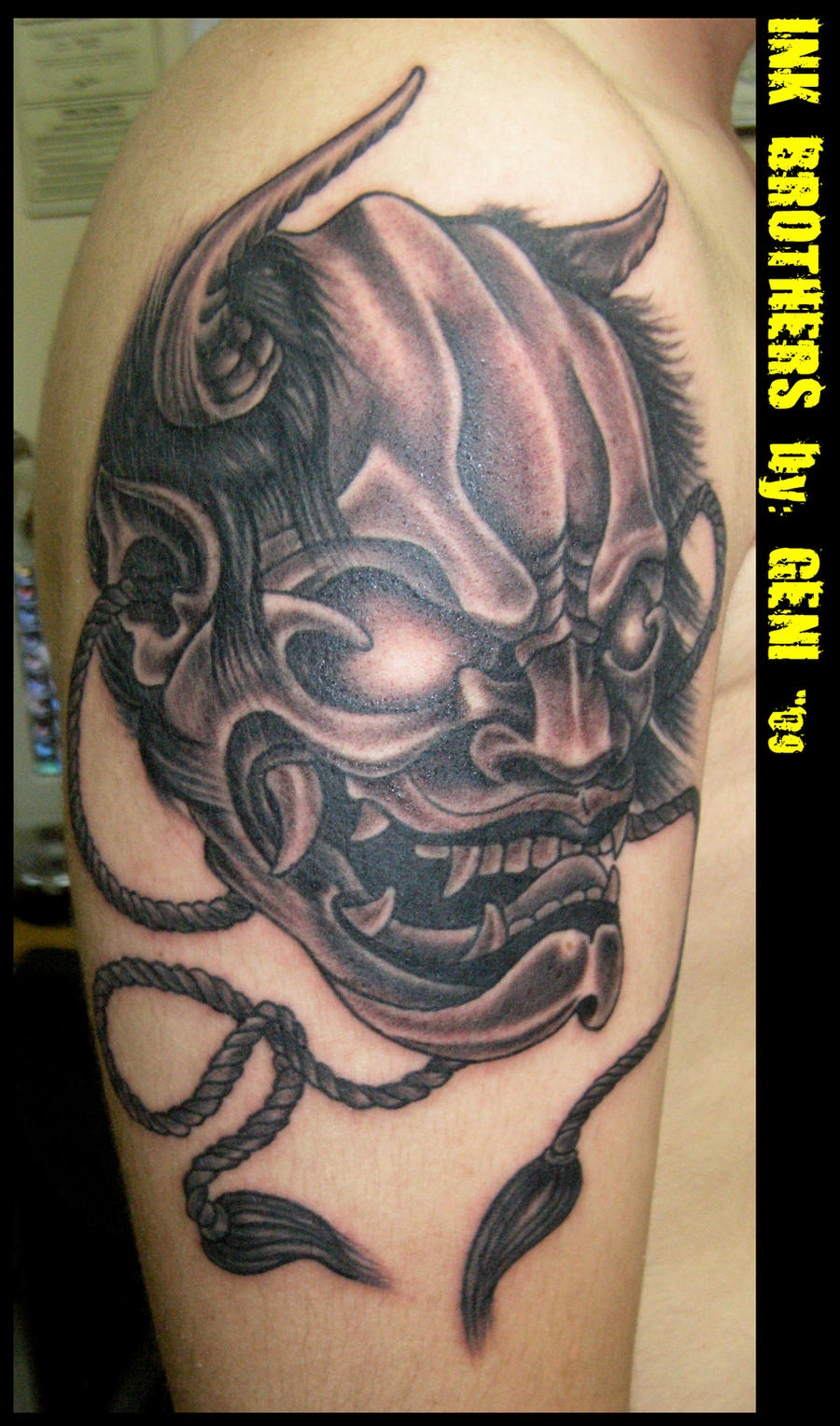 Oni Mask Tattoo: Oni Mask 4 By InkBrothersBG On DeviantArt