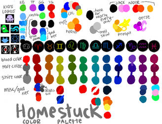 HOMESTUCK COLOR PALETTE by Deliale