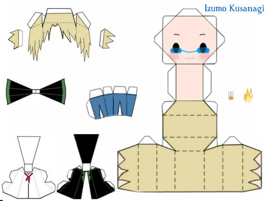 Izumo Kusanagi papercraft  K
