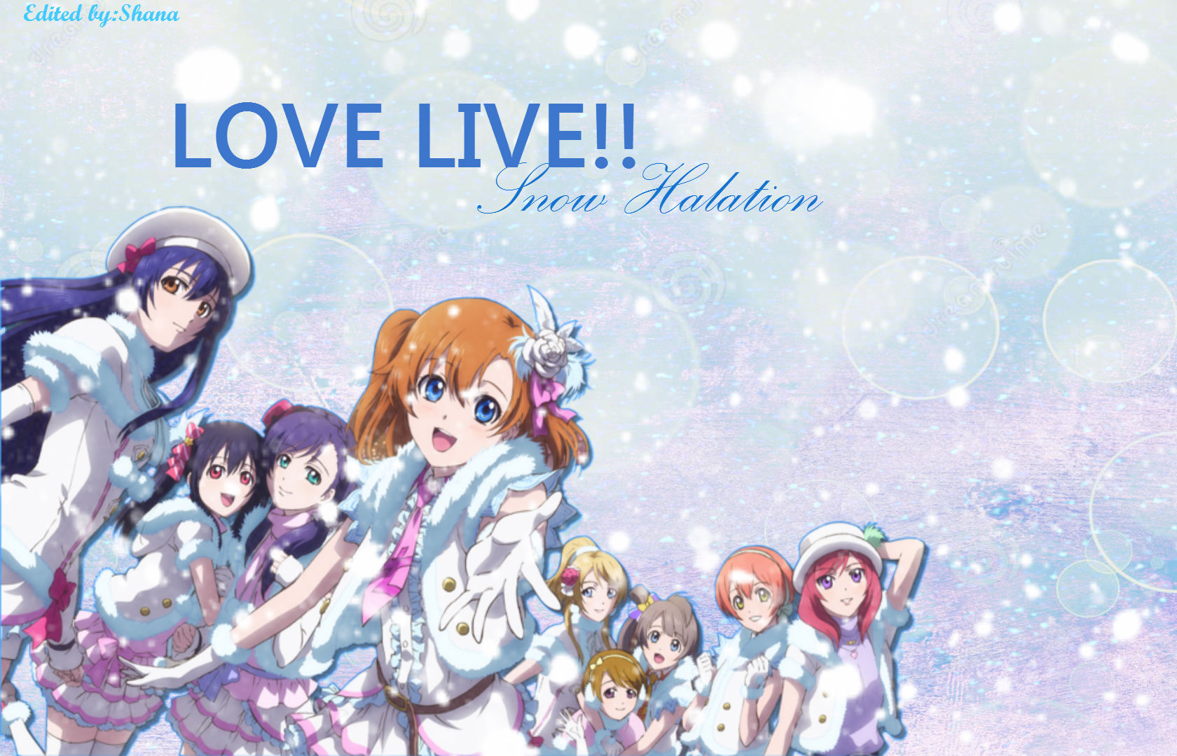 Snow Love Wallpaper For Mobile : Love Live Snow Halation Wallpaper by LillyDah on DeviantArt