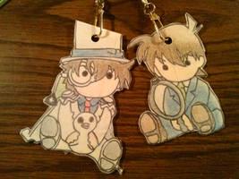 Chibi Kaitou Kid and Chibi Kudo Shinichi