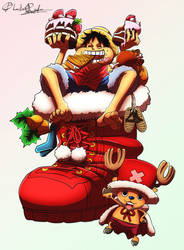 Happy Holidays from Luffy and Chopper