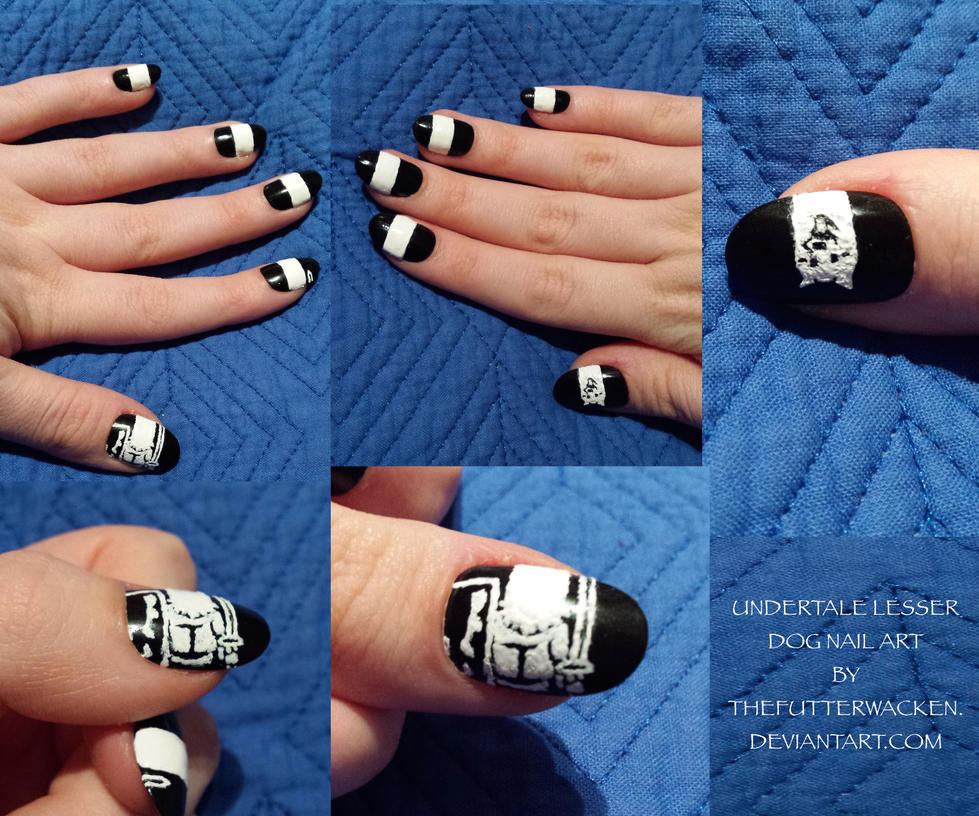 Undertale Lesser Dog Nail Art By Thefutterwacken On Deviantart