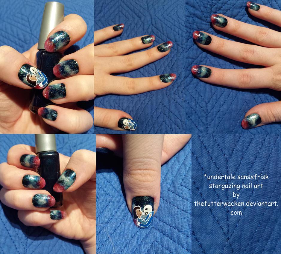 UNDERTALE: Stargazing Nail Art by TheFutterwacken