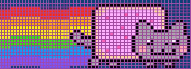 Nyan cat perler bead pattern by saskia105