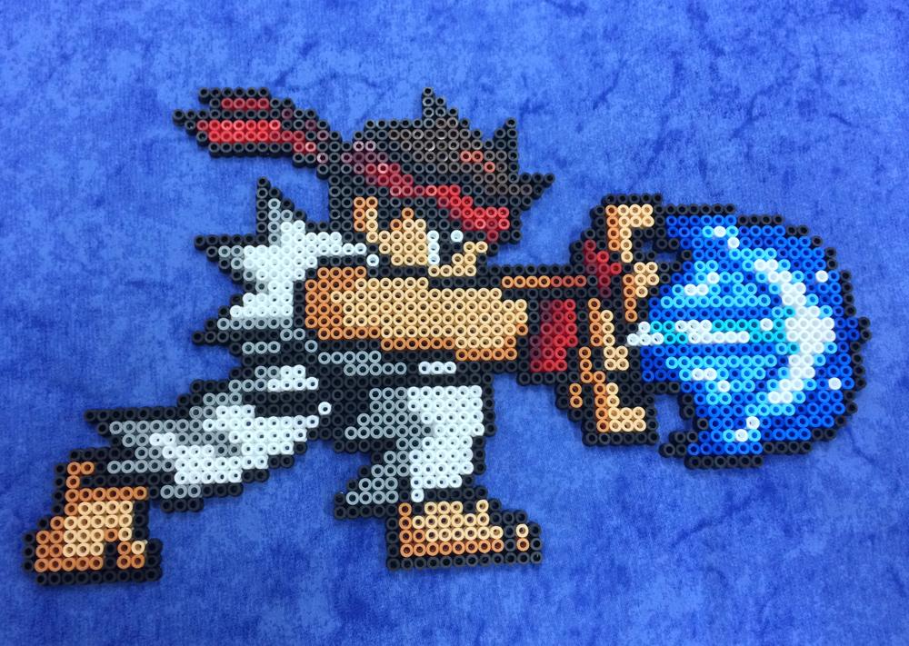 Street fighter ryu hama by hamamia on deviantart - Hama beads cuadros ...