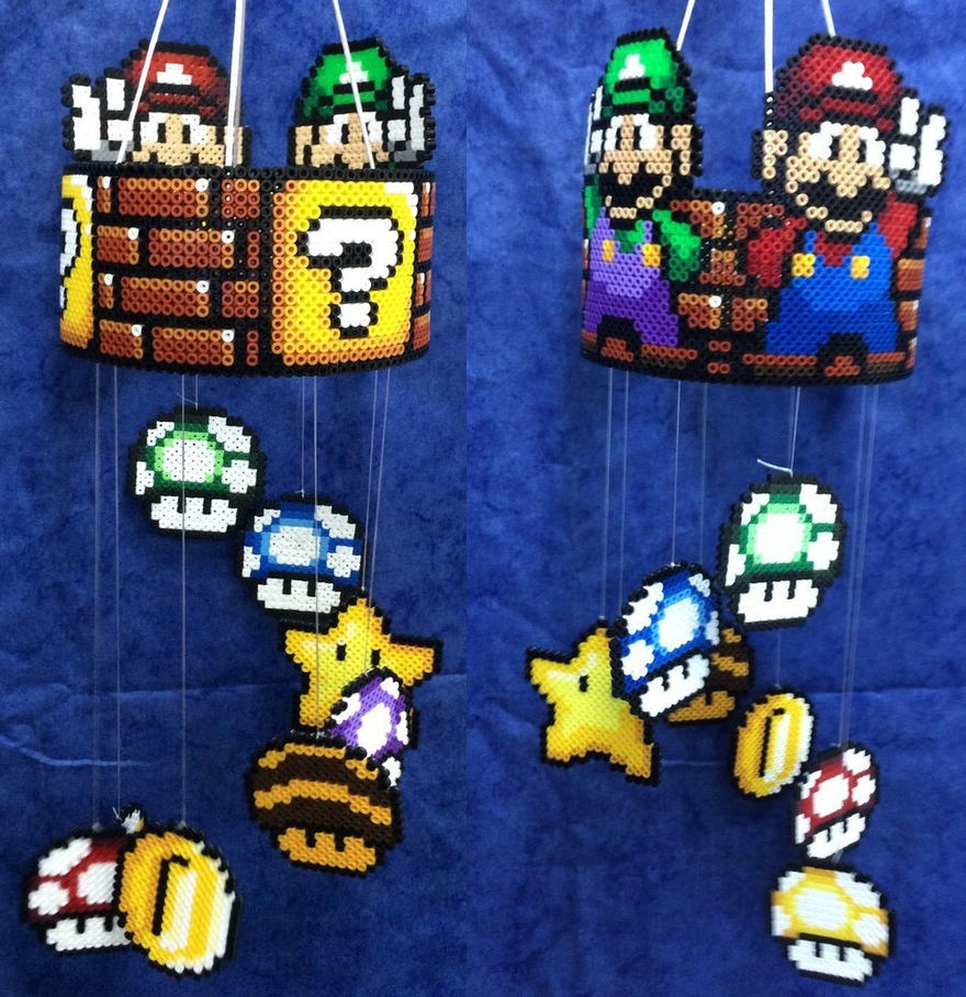 Mario luigi movile hama by hamamia on deviantart - Hama beads cuadros ...
