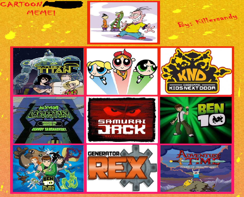 cartoon network shows by sonicx16 favorite cartoon network shows ...
