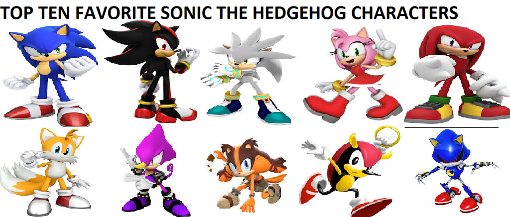 Top 10 Favorite Sonic The Hedgehog Characters By