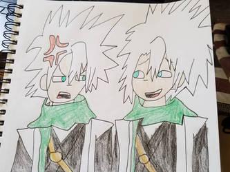 Toshiro and 2p!Toshiro by SmoothCriminalGirl16