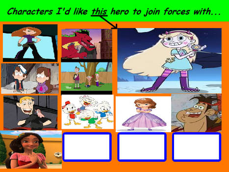 Characters that Star Like To Join Forces With
