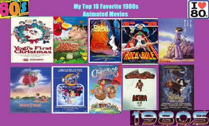 My Top 10 Favorite 80's Animated Movies