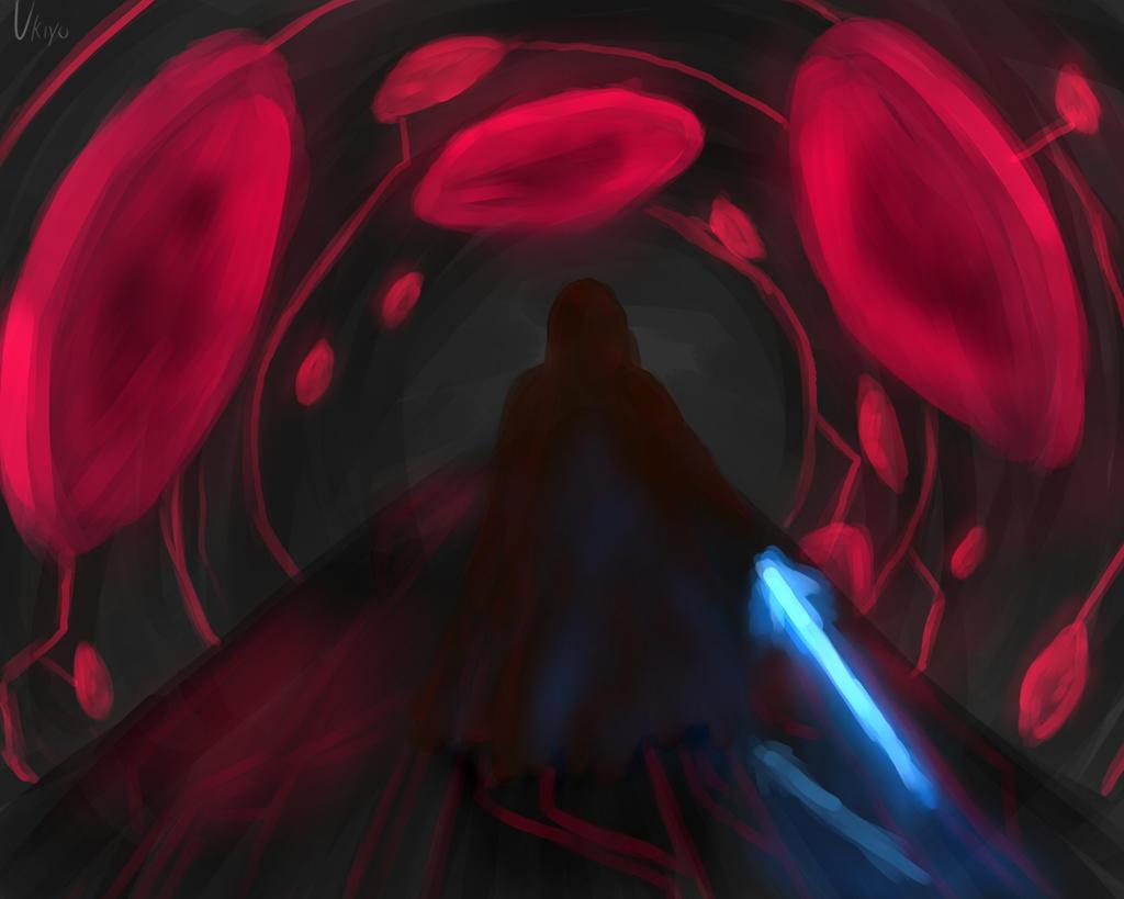 Jedi knight in alien spaceship by Ten-Tsuki