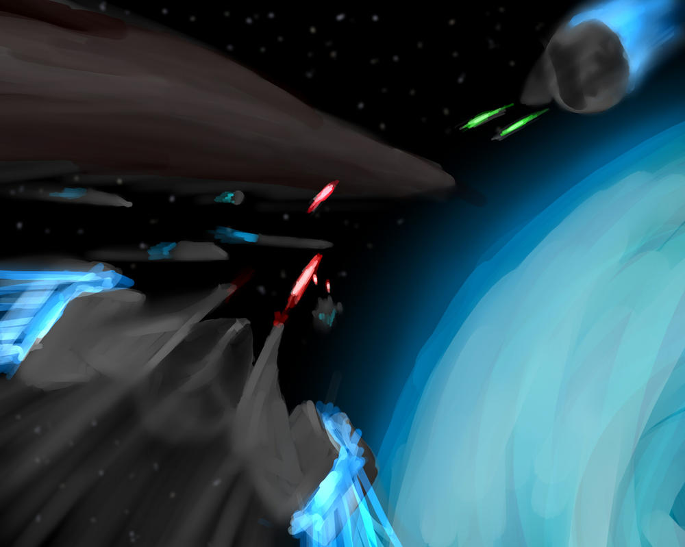 Space Fight by Ten-Tsuki