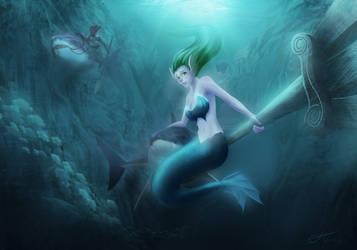 Mermaid thingy by Allister-Vinris