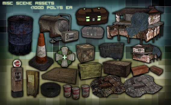 Misc Apocalypse game assets