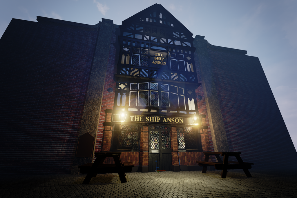 'The Ship Anson' UE4 scene - Still WIP by alexdarkred