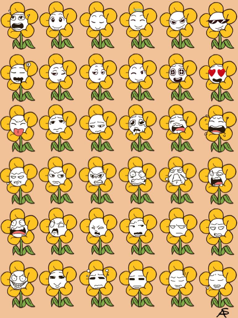 Flowey Emoji Challenge  by Cheezit1x1