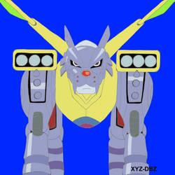 MetalGarurumon - Ice Cyborg Wolf