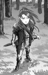 Manga style elf by Colorstormu
