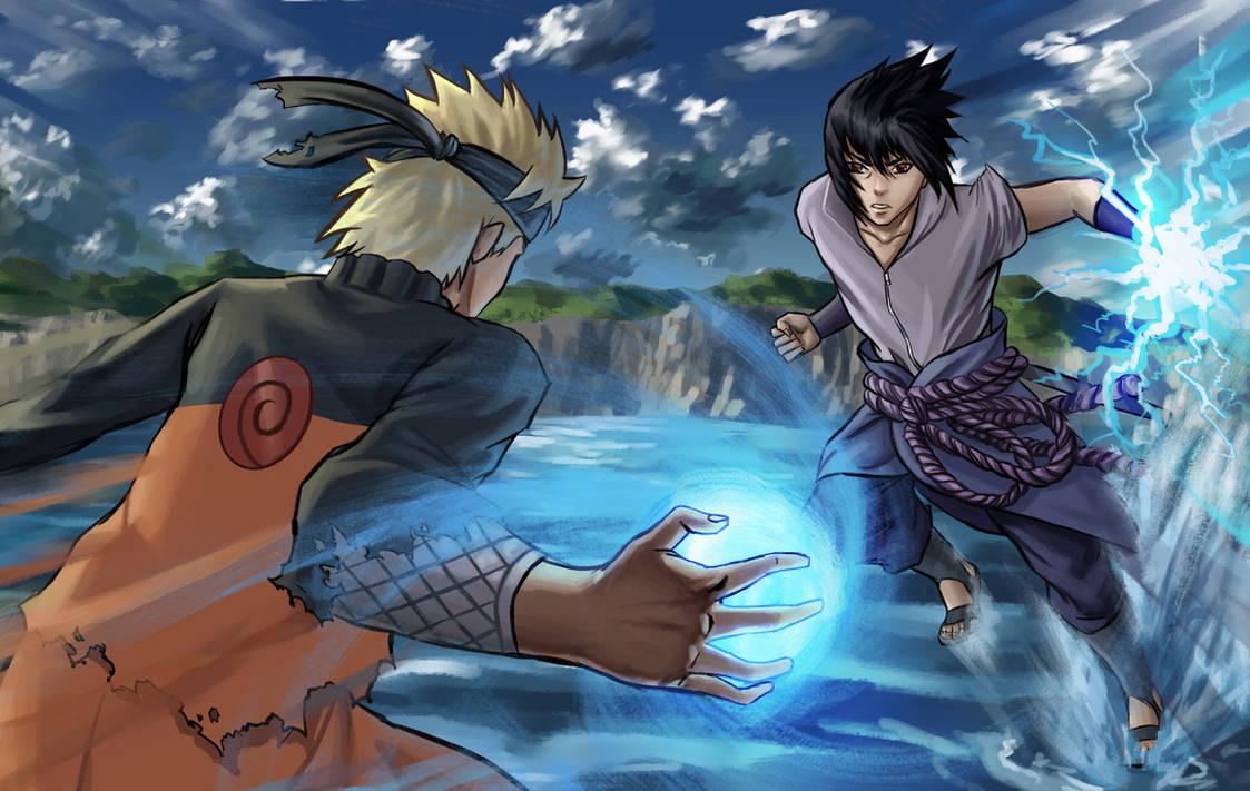 Naruto Vs Sasuke by Colorstormu