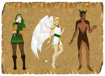A4 - Supporting characters 2 by Autumnchild