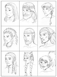 Character head shots by Autumnchild