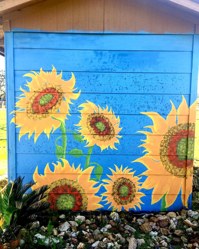 Sunflower Mural by JonnyPenn