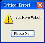 Critical Error by BlackBeltMaster