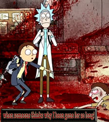 Rick and Morty Bad thoughts meme.