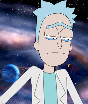 young rick sanchez with depression