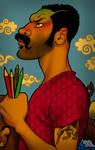 auto portrait by hefne