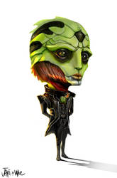 Mass Effect Thane Chibi by We-Chibi