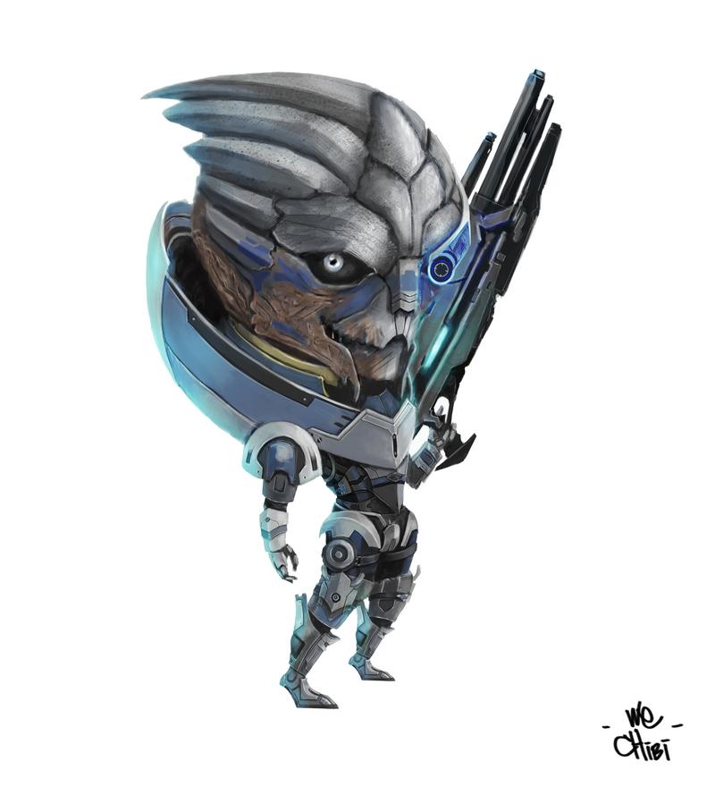 Mass Effect Garrus Chibi by We-Chibi