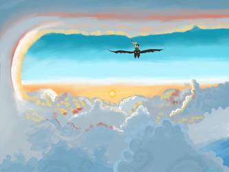 Romantic flight by Ratgirl08